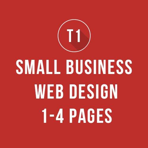 Website Design for 1-4 Webpages